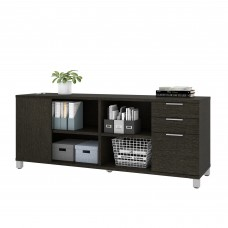 Pro-Linea Credenza with three drawers in Deep Grey