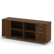 Pro-Linea Credenza with three drawers in Oak Barrel