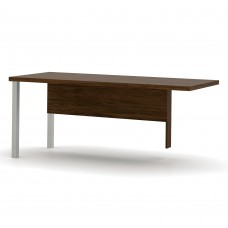 Pro-Linea Return table with metal legs in Oak Barrel