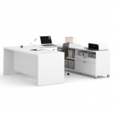 Pro-Linea U-Desk in White