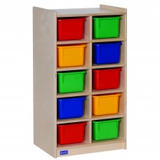 10-Tray Storage with Multi-Colored Trays