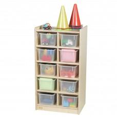 10-Tray Storage with Clear Trays
