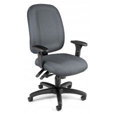 OFM Core Collection Ergonomic Task Chair with Arms, Mid Back, in Gray (125-801)