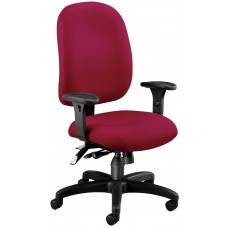 OFM Core Collection Ergonomic Task Chair with Arms, Mid Back, in Wine (125-803)