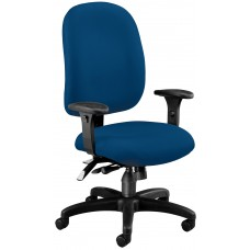 OFM Core Collection Ergonomic Task Chair with Arms, Mid Back, in Navy (125-804)