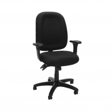 OFM Core Collection Ergonomic Task Chair with Arms, Mid Back, in Black (125-805)