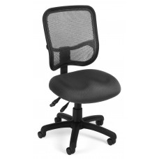 OFM Core Collection Comfort Series Ergonomic Mesh Mid Back Armless Task Chair, in Gray (130-A01)