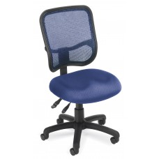 OFM Core Collection Comfort Series Ergonomic Mesh Mid Back Armless Task Chair, in Navy (130-A04)
