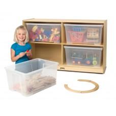 Jonti-Craft® Jumbo Tote Storage – with Clear Jumbo Totes + Lids