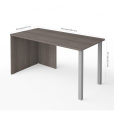 i3 Plus Table with Metal Legs in Bark Gray