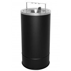 Flip Top Floor Urn - Black Texture