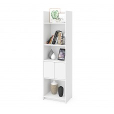 Bestar Small Space 20-inch Storage Tower in White