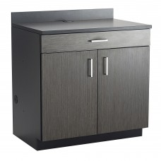 Hospitality Base Cabinet, One Drawer/Two Door - Black (cabinet);Asian Night (counter top & doors)