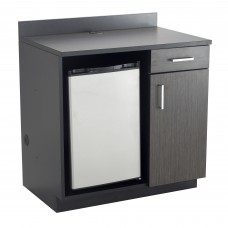 Hospitality Appliance Base Cabinet - Black (cabinet);Asian Night (top & doors)