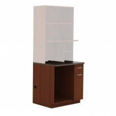 Hospitality Appliance Base Cabinet - Rustic Slate (counter top);Mahogany (cabinet)