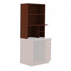 Hospitality Appliance Hutch - Rustic Slate (counter top);Mahogany (cabinet)
