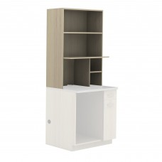 Hospitality Appliance Hutch - Vanilla Stix (cabinet);Grey (counter top)