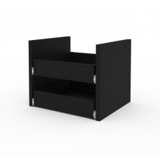 Bestar Lincoln 2-Drawer Set for Stackable Storage Cabinet in Black