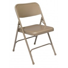 Beige Premium All-Steel Folding Chairs Carton of 4