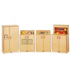 Jonti-Craft® Natural Birch Play Kitchen 4 Piece Set