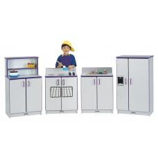 Rainbow Accents® Play Kitchen 4 Piece Set - Teal