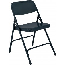 Char-Blue Premium All-Steel Folding Chairs Carton of 4