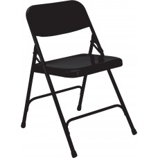 Black Premium All-Steel Folding Chairs Carton of 4
