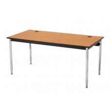"""29"""" Fh    30""""D X 72""""L 1500 Series Computer Table - Bannister Oak"""