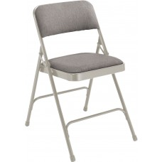 Greystone Fabric Upholstered Premium Folding Chairs Carton of 4
