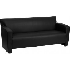 HERCULES Majesty Series Black Leather Sofa [222-3-BK-GG]