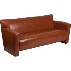 HERCULES Majesty Series Cognac Leather Sofa [222-3-CG-GG]
