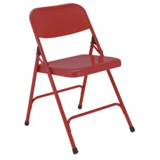 Red Premium All-Steel Folding Chairs Carton of 4