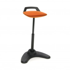Vivo Height Adjustable Perch Stool, Black/Orange