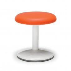 "Orbit Series Static Stool 14"" High - Vinyl, Orange"