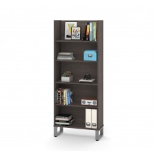 Solay 29-inch Bookcase in Brak Gray