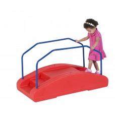 Red Rocker / Toddler Bridge with Rails
