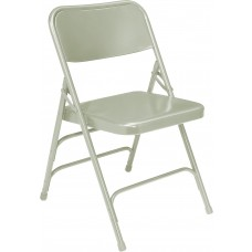Grey Premium All-Steel Brace Double Hinge Folding Chairs Carton of 4