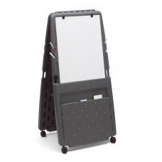 Presentation Flipchart Easel, Dry Erase Surface - Charcoal