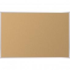 """Natural Add - Cork Tackboard - Aluminum Trim - 33 3/4"""" X 48"""""""