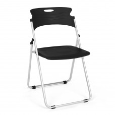 OFM Core Collection Flexure Series Folding Chair, in Black (303-P0)