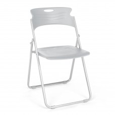 OFM Core Collection Flexure Series Folding Chair, in Dove Gray (303-P01)