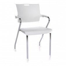OFM Core Collection Smart Series Plastic Stack Chair, in White (304-P-P02)