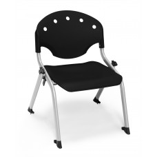 Rico Student Stack Chair - 12 Inch Seat Height, Black