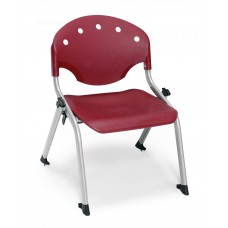 Rico Student Stack Chair - 12 Inch Seat Height, Burgundy