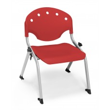 Rico Student Stack Chair - 12 Inch Seat Height, Red