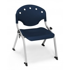 Rico Student Stack Chair - 12 Inch Seat Height, Blue
