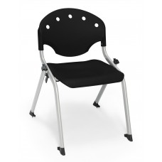 Rico Student Stack Chair 14 Inch Seat Height, Black