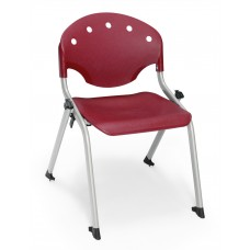 Rico Student Stack Chair 14 Inch Seat Height, Burgundy