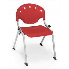 Rico Student Stack Chair 14 Inch Seat Height, Red