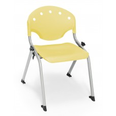 Rico Student Stack Chair 14 Inch Seat Height, Yellow